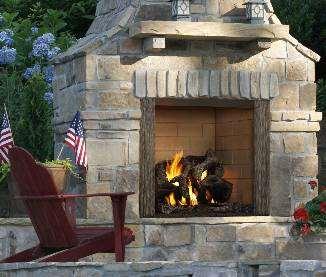 Poeles castlewood foyer ext rieur bois for Foyer exterieur en brique