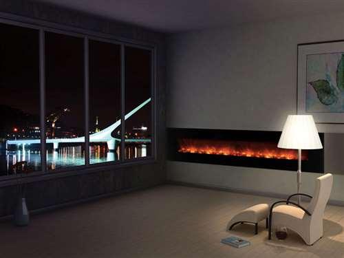 Foyer Electrique Modern Homes : Poeles foyers foyer electrique lineaire de luxe